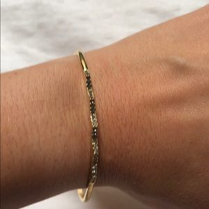 Gold bangele from Stella and dot